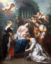 the marriage of st catherine by jacob andries beschey