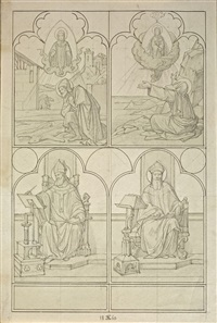 ohne titel (design for altar for the minoritenkirche in cologne) by edward jakob von steinle