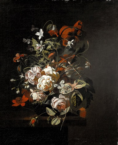 blomsterstilleben by simon pietersz verelst