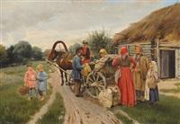 der pferdewagen by petr ivanovic korovin