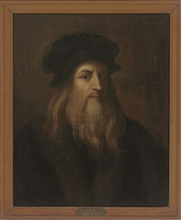 self portrait of the artist (after leonardo da vinci) by v. bianchini