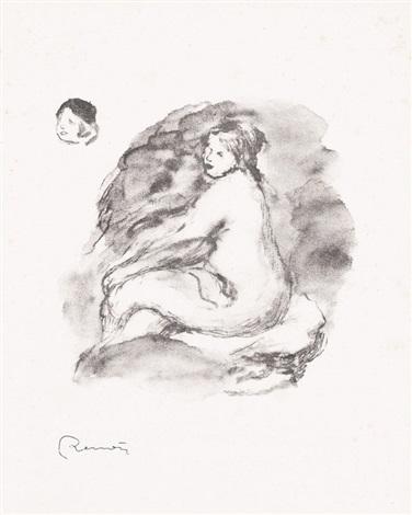 etude de femme nue assise by pierre auguste renoir