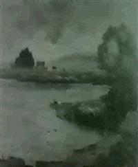 renninger see unter schweren gewitterwolken by christian nass