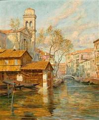 blick auf s. pietro di castello in venedig an einem prachtvollen frühlingstag by arthur trevor haddon
