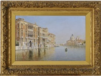 venice: on the grand canal, looking towards the s. maria della salute by rafael senet y perez