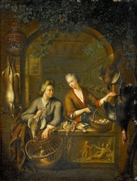 handelsboden by frans van mieris