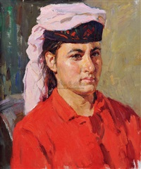 tajik young woman haliqiamu by bai renhai