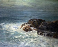 waves breaking on the shore by charles david jones bryant