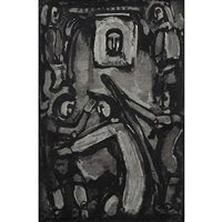 druckstock zu passion by georges rouault