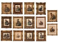 sammlung von 14 aquarellen by peter krämer
