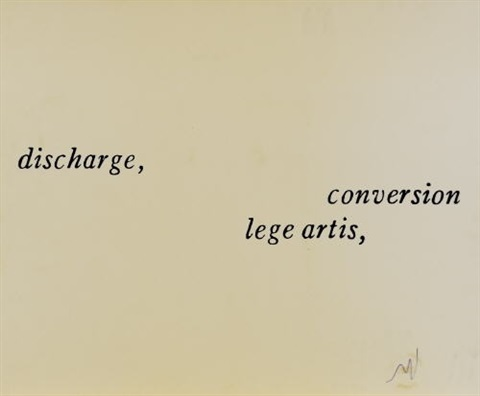 discharge lege artis onversion 2 works by joseph kosuth