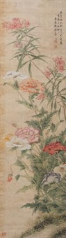 秋花图 by tang shishu