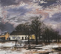 winter landscape by charles eyck