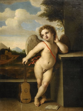 putti i antikiserande landskap by michel corneille the younger