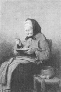 suppe löffelnde alte by heinrich a. weber