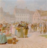 markedsdag i guldaldertidens kobenhavn by poul corona