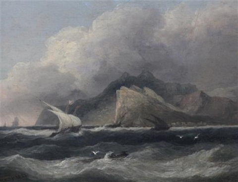 off cape lanedia greece by thomas luny