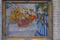 fleurs ensolleillées by ernest jean joseph godfrinon