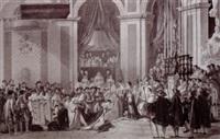 couronnement de napoléon by jean-pierre-marie jazet