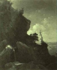 einsiedler in berglandschaft by carl august reinhardt