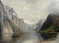 sommer im norwegischen fjord by julius kruchen