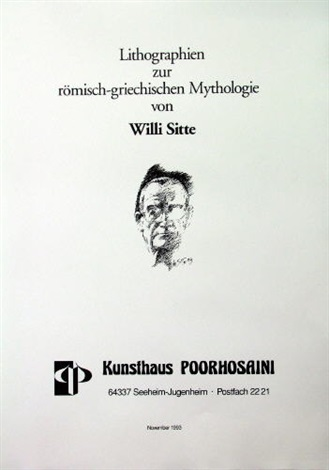 lithographien zur römisch griechischen mythologie portfolio of 6 wtitle and text by willi sitte