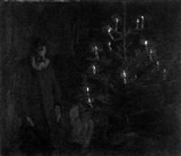 alter mann am weihnachtsbaum by heinrich pforr
