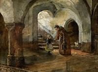 klosterszene by wilhelm von lindenschmit the younger