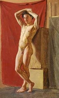 modelstudie af stående mand by wilhelm pacht