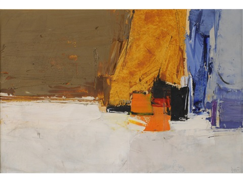 composition blue orange and ochre by donald hamilton fraser