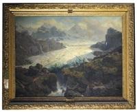 the nose of the glacier of susten (der sustengletscher) by leonhard rausch