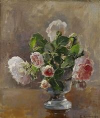 stilleben med rosor by esther kjerner