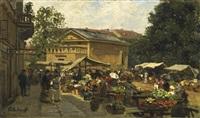 berlin. markt am leipziger platz by paul andorff