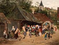 bauernmarkt by wilhelm g. hasemann