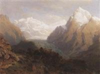 blick auf einen alpengletscher im hochsommer by johann jakob vollweider
