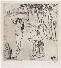 femmes nues sous les arbres by suzanne valadon