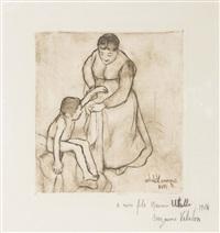 grand-mère et enfant by suzanne valadon