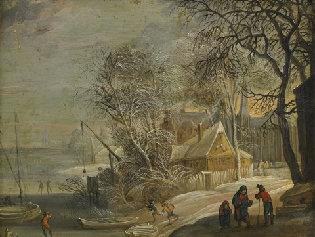 holländsk stad i vinterskrud by jacques d arthois