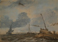 ships at sea by aert schouman
