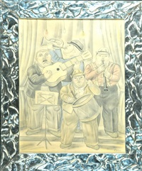 musicos by fernando botero