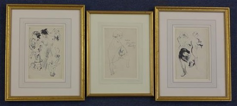 a young woman and studies of nudes 2 works 3 works by william russell flint