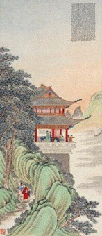 滕王阁诗意图 by xu shouchen