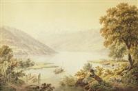 vue du lac de thoune et petite scheidegg by gabriel ludwig lory and mathias gabriel lory