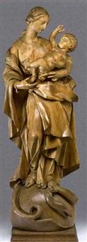 maria mit kind by johann wolfgang von der auvera
