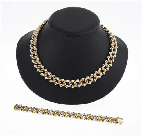 50-70% de réduction classique couleurs délicates Bracelet à maillons et collier en suite set of 2 by Patek ...