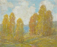 landscape in fall by ernest albert