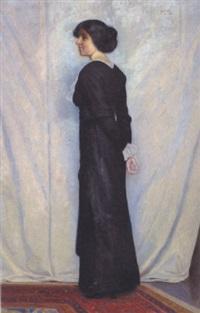 pige i sort kjole by poul corona
