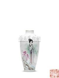 粉彩仕女瓶 (porcelain vase) by dai ronghua