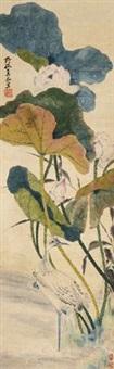 河下白鹤 by lian xi
