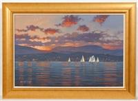 twilight regatta by william dobbie